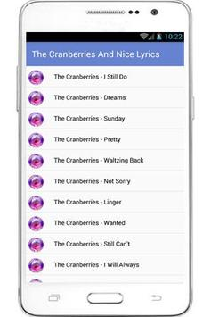 The Cranberries Lyrics poster