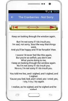 The Cranberries Lyrics apk screenshot