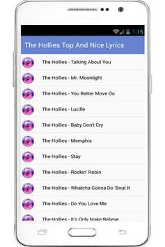 The Hollies Hits And Lyrics poster