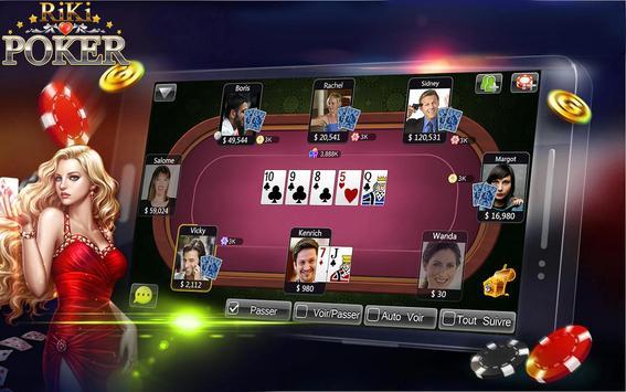 Riki Texas Holdem Poker FR apk screenshot