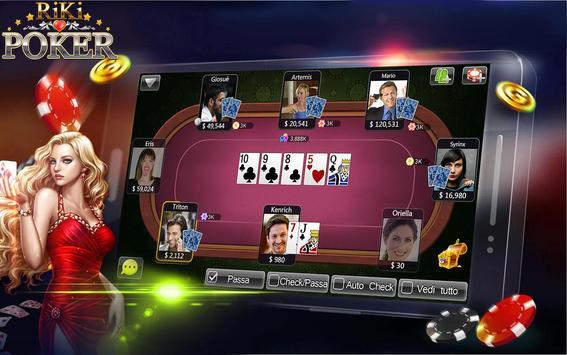 Riki Texas Holdem Poker IT apk screenshot