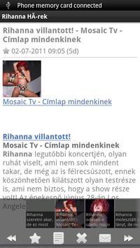 Rihanna Magyar Hírek apk screenshot