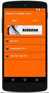 Rihanna Complete Lyrics poster