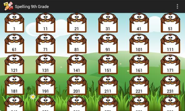 FREE Spelling 9th Grade apk screenshot