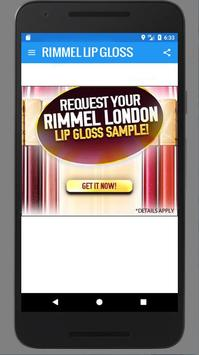 Rimmel Lip Gloss - Get Sample poster