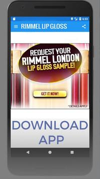 Rimmel Lip Gloss - Get Sample apk screenshot