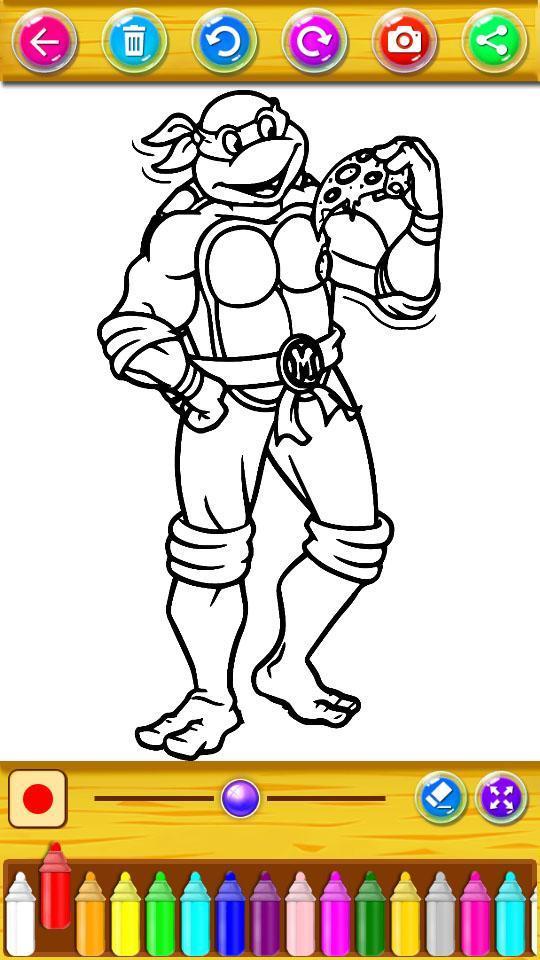 Libro De Colorear Para Tortugas Ninja For Android Apk Download