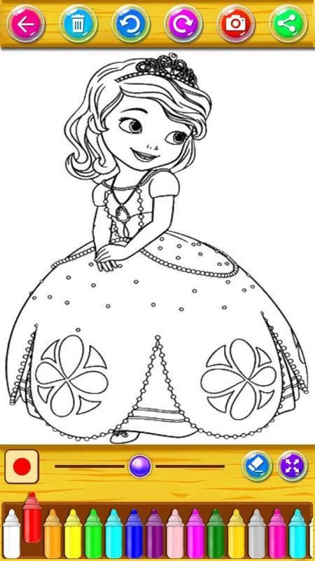 Libro para colorear princesa para niñas for Android - APK Download