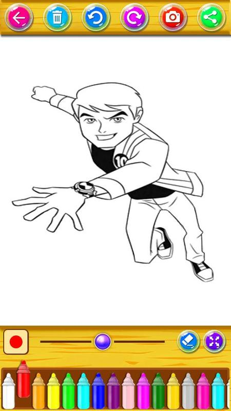 Coloring Pages For Ben 10 Aliens Screenshot 1