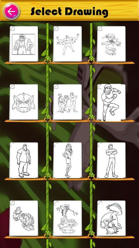 Coloring Pages For Ben 10 Aliens Screenshot 2
