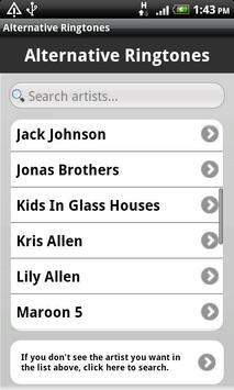 Alternative Ringtones screenshot 1