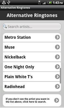 Alternative Ringtones screenshot 2