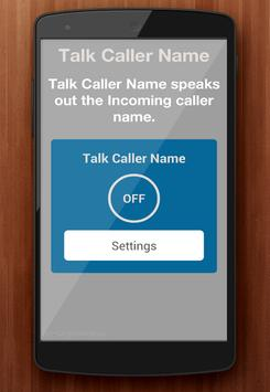 Automatic Callers Name Speaker poster