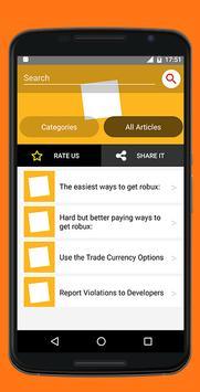 GUIDE For ROBUX apk screenshot