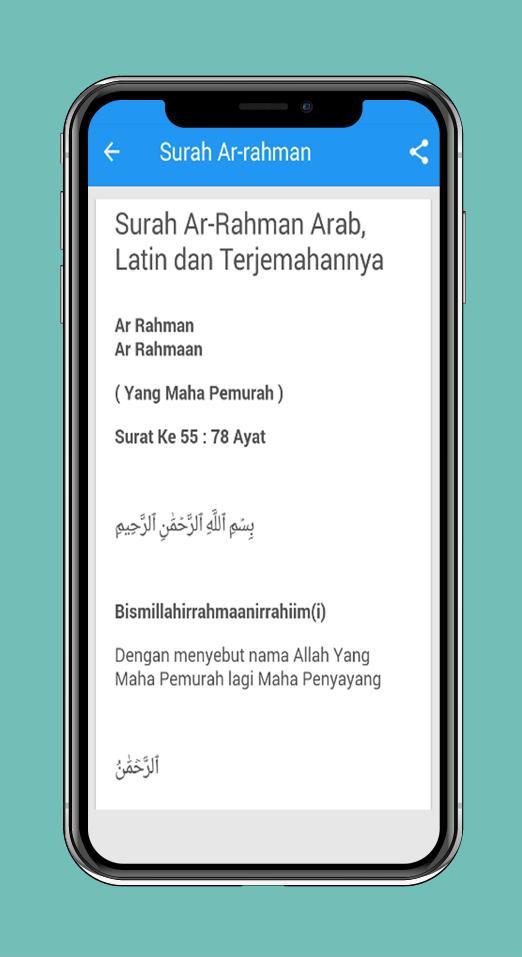 Surah Ar Rahman Arab Latin Dan Terjemahannya For Android