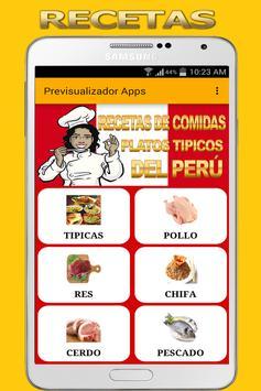 Recetas de Comida Peruana poster