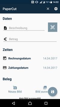 PaperCut -mobile bill scanning poster