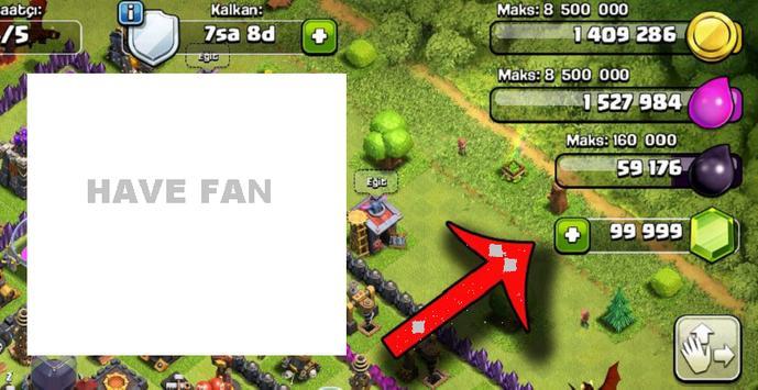 New gems for coc 2011 (Prank) apk screenshot