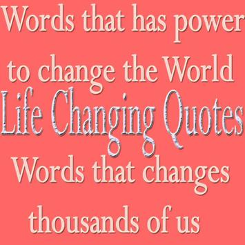 Life Changing Quotes poster
