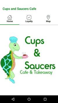 Cups and Saucers Cafe poster