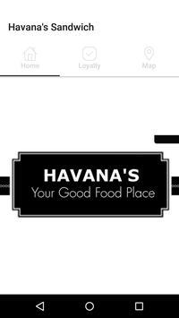 Havana's Sandwich Loyalty App poster