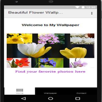 Beautiful Flower Wallpaper poster