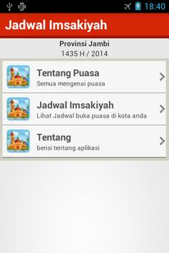 Jadwal Imsakiyah Prov. Jambi poster