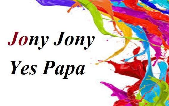 Nursery poem johny Yes Papa poster