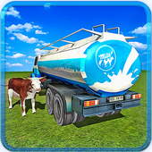 Transport Truck Milk Delivery icon