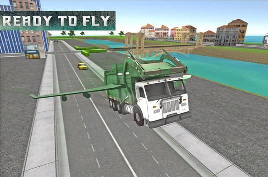 Flying Truck: Garbage Driver apk screenshot