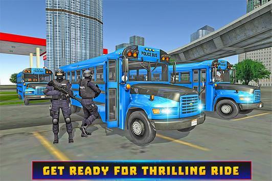 Police Bus Criminal Escape poster