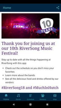 RiverSong Music Festival poster
