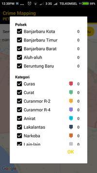 Crime Mapping Banjarbaru apk screenshot
