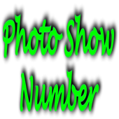 Photo Show Number icon