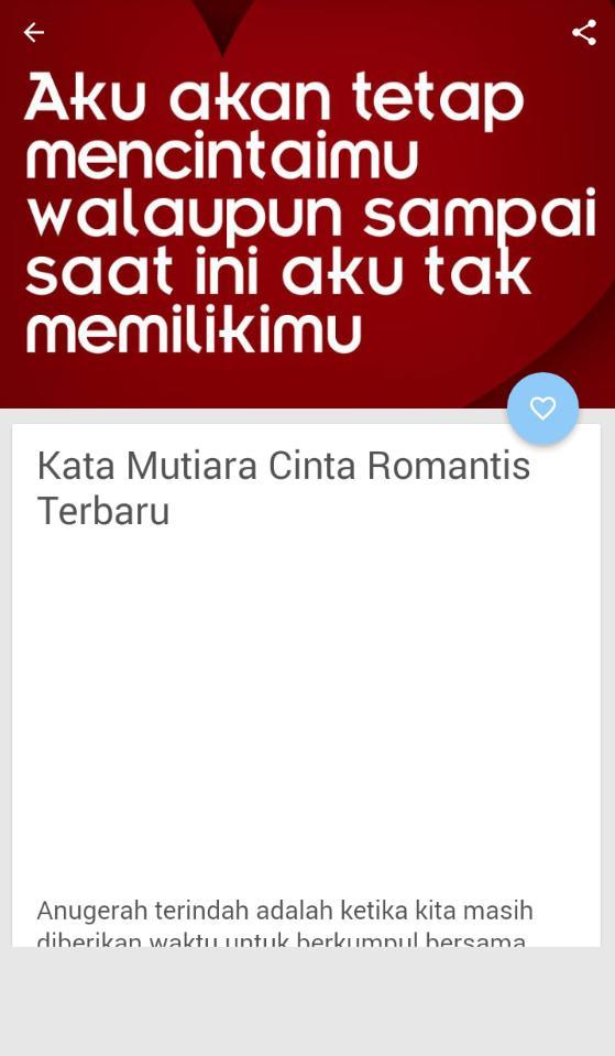 Kata Mutiara Cinta Romantis Terbaru For Android Apk Download