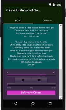 Carrie Underwood musik & lyric screenshot 2