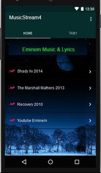 Eminem Music Player & Lyrics poster
