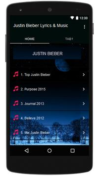 Justin Bieber Lyrics & Music poster