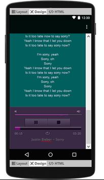 Justin Bieber Lyrics & Music screenshot 1