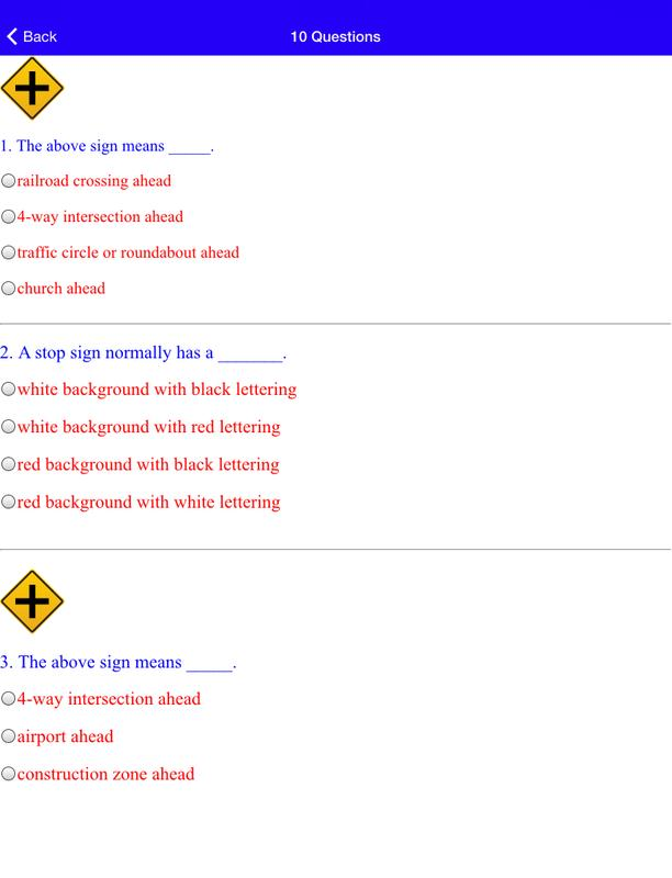 17 Mo Dmv Practice Tests Screenshot 5