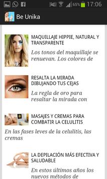 Be Unika: consejos de belleza apk screenshot