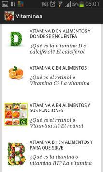 Vitaminas en alimentos apk screenshot