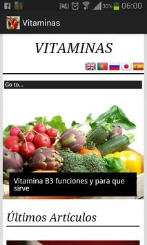 Vitaminas en alimentos poster