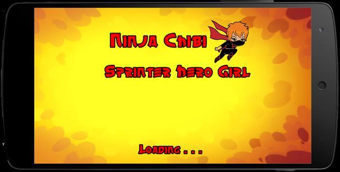 Ninja Chibi Sprinter Hero Girl poster