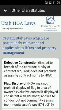 UtahHOALaws apk screenshot