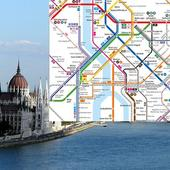 Budapest metró térkép Zeichen