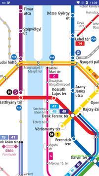 Budapest metró térkép capture d'écran 1