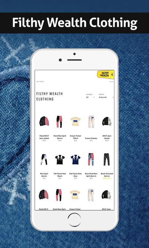 Filthy Wealth Mens Women S Clothing App For Android Apk Download