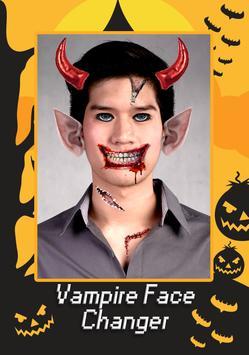 Vampire Face Halloween Makeup screenshot 1