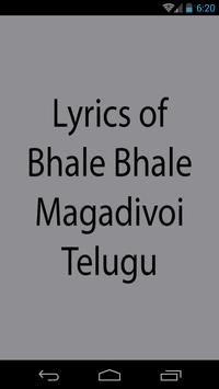 Lyrics of Bale Bale Magadivoy poster